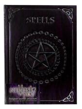 Embossed Journal - Spells Notebook Mystic Shadow Pentagram Wicca Pagan