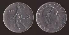 50 LIRE 1968 VULCANO - ITALIA