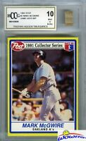 1991 POST #2 Mark McGwire Hidden Treasures w/GAME USED BAT BECKETT 10 MINT!