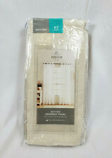 """JCP Home Ivory Bayview Grommet-Top Sheer Curtain Panel, 50""""x63"""""""