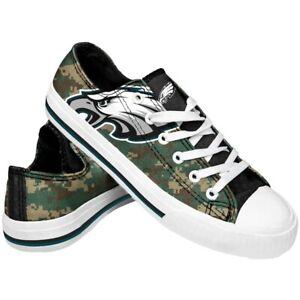 Philadelphia Eagles Men's Low Top Digital Camo Canvas Shoes