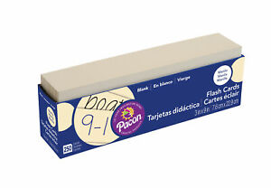Pacon Blank Flash Cards, Manilla, 3 x 9 Inches, Pack of 250