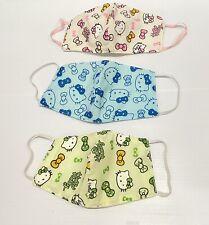 3PC  Face Mask Fabric - Sanrio Hello Kitty Mask Women Size