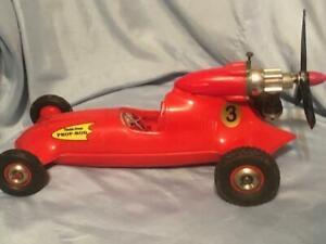 Vintage Cox Thimble Drome Prop Rod Cox Tether Car Gas Stunt #3 Red Racer USA
