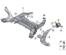 Original Mini F55 F56 F57/31126882844/Bracket Control Arm with Rubber Bearing