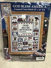 God Bless America SAMPLER cross stitch kit Design Works USA 1040 12 X 16 SEALED