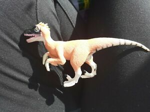 "2004 K&M Wild Republic Velociraptor Toy 6"" Dinosaur Figure"