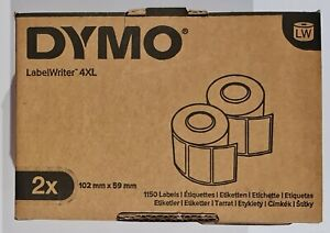 2x 575 Dymo Shipping Labels 102mm x 59mm S0947420 for Dymo LabelWriter 4XL