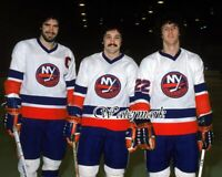 NHL 1979 New York Islanders Gilles Trottier & Bossy Color 8 X 10 Photo Picture
