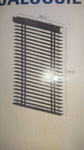 Jalousie Aluminium von Soluna, neu, 175x100m,Farbe schwarz