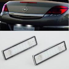 2x Error Free LED License Plate Light For OPEL Vauxhall Astra F G Corsa B Omega