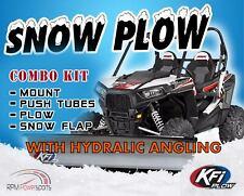 """KFI 66"""" Hydraulic Angle Steel Plow Kit For 2007-10 John Deere Gator XUV 850D UTV"""