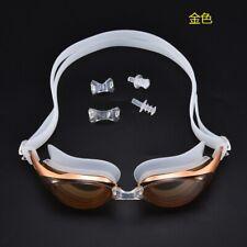 Mirror Swimming Goggles Anti-Fog Swim Glasses UV Protection + Ear Plug Adult