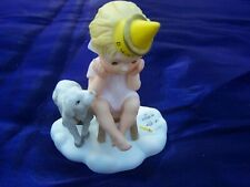 """Vintage Almost Angels 1986 """"A Friend Loves At All Times"""" Franklin Mint Figurine"""