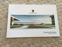 PORSCHE EXCLUSIVE ULTIMATE PERSONALIZATION OPTIONS RARE BROCHURE 2015 USA Ed