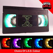 📼 Retro USB VHS Lamp | Desk Office Accessory, The X Files Gift Present