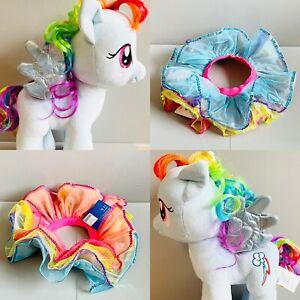 """Build A Bear My Little Pony 16"""" Rainbow Dash with Fancy Dress/Tutu/Skirt Clothes"""