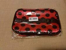 Organizer Cosmetic Bag Double Zipper Polka Dot Durable Travel Storage US Shippin