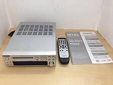 Used ONKYO Hi-MD Mini Disc Recorder MD-105FX Silver w/ remote controller