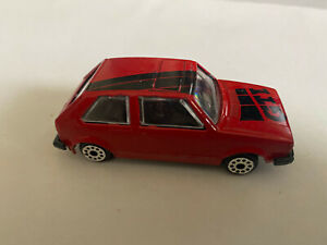 diecast D 83 red Volkswagen VW Golf GTi car