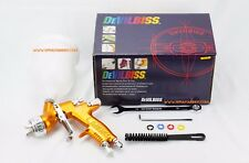 paint spray gun DeVilbiss GTI Pro Lite 1.3mm TE10 GOLD + cup NEW from US seller!
