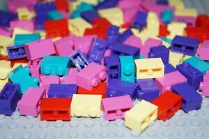 LEGO 160 x MIXED COLOURS BRICKS 1x2 No 3004  purple,pink,yellow,red,bluish green