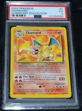 Charizard # 3/111 Legendary Collection Set Pokemon Trading Cards Rares PSA 3 VG