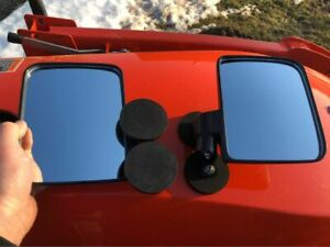 LARGE RUBBER COATED MAGNET MIRRORS Tractor/Skidsteer kubota B BX john deere PAIR