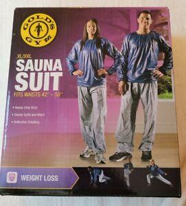 """Golds Gym Adult Unisex Sauna Suit XL/XXL  Reflective Detailing, Waists 42""""-50"""""""