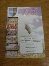 13/05/2012 Football Programme: Surrey County Youth And Girls Cup Finals - U10 Yo