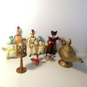 DISNEY VINTAGE ALADDIN GENIE MAGIC LAMP RARE MATTEL 1992 & 1993 figures