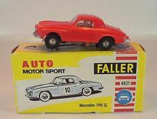 Slot Car Faller AMS Nr. 4821 Mercedes 190 SL rot Blockmotor 1 alte Papp-OVP #675
