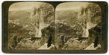 VINTAGE STEREOVIEW CARD B/W PHOTO KALABAKA GREECE MOUNTAIN LANDSCAPE HC WHITE