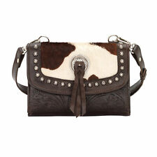 American West Texas Two Step Small Crossbody Chocolate Leather