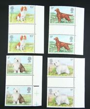 Uk Stamp 10.5p 9p 11p 13p Dog Welsh Irish English Highland - Qty 8 Unused St016
