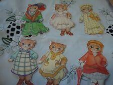 """Vintage Kitty Cucumber~ Orange Tabby Cats """"Ginger"""" in Costumes~12 New Gift Tags"""