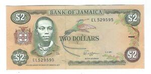 Jamaica - Two (2) Dollars 1989