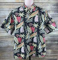 John Severson Kahala Reverse Print Hawaiian Shirt Men's Sz XL Tropical Aloha