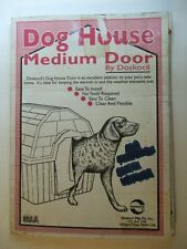 Doskocil Medium Dog House Door Flap 210555 Clear Vinyl Flexible Easy Install