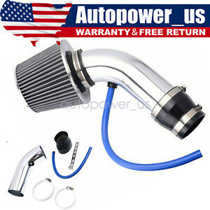 """76mm/3""""inch Cold Air Intake Filter Alumimum Induction Kit Pipe Flow Hose System"""