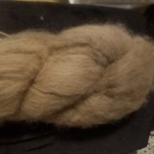 """CRAZY Combed Mink Fur combed Top Roving 100% Natural Brown soft 1.3"""" long SOFT"""