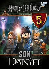 HARRY POTTER Lego Personalised Birthday Card Add Your Own Name Age Relative!