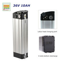 36V 10AH Electric Bicycle Battery Pack fit 250-350W E-bike Lithium w/ Cradle