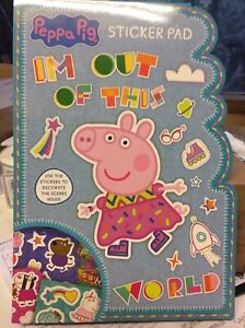 KIDS A4 STICKER PAD STICKERS AND SCENES IDEAL BIRTHDAY,EASTER, XMAS PEPPA PIG