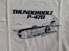 NOS SCREEN STARS THUNDERBOLT P-47D SHIRT XL AIRPLANE AIRCRAFT