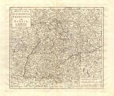 'Nuova Carta del Circolo di Franconia, e di Svevia' by Isaak TIRION 1740 map