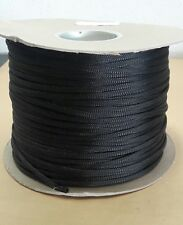 """(50 FT) GHRP-110NF14 Black 1/4"""" Expandable Cable Sleeving Sheathing Braided Loom"""