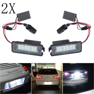 2x LED Number License Plate Light Lamp For VW GOLF MK4 MK5 MK6 MK7 Seat UK