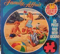 """Whitman Family Affair Junior Guild 125 piece 20"""" Diameter Round puzzle 1970"""