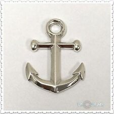 925 Sterling Silver Nautical Anchor pendant. US@GEMS